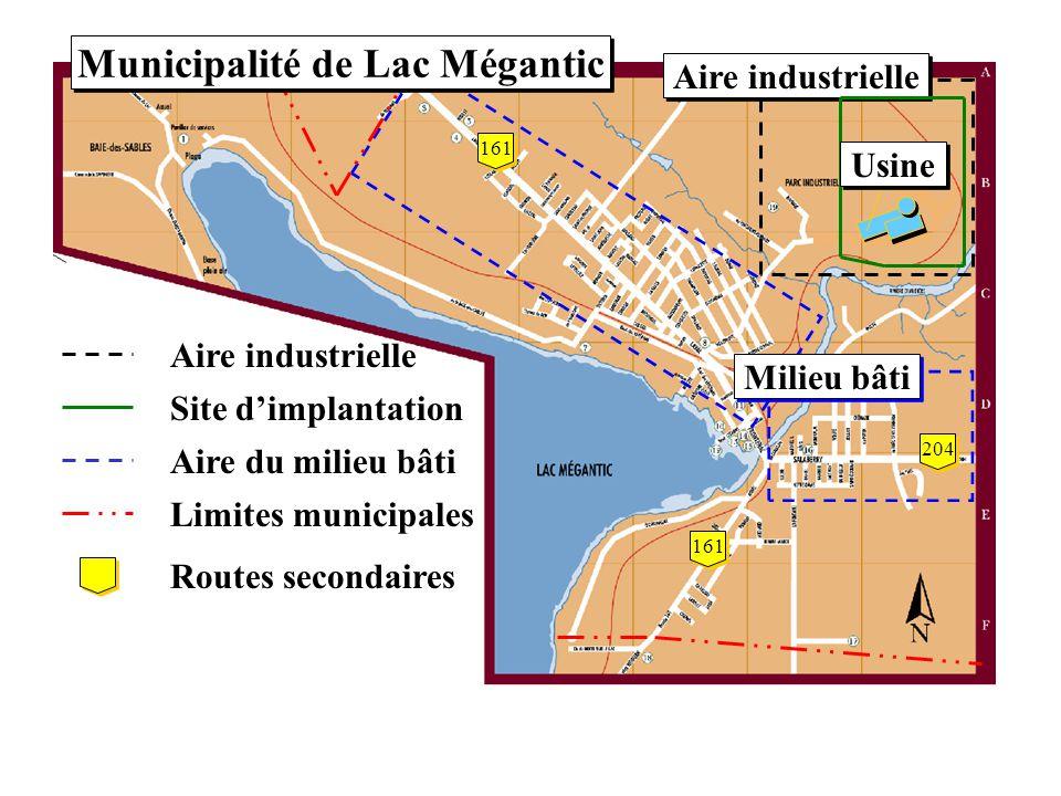 Site choisi Lac Mégantic
