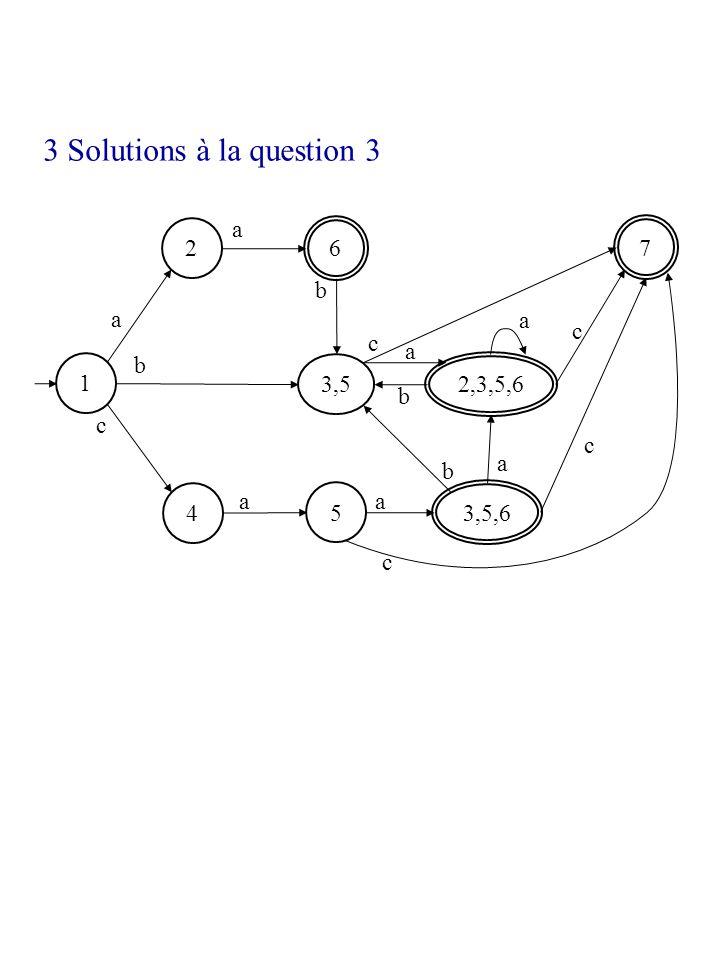 1 2 4 6 7 a b c a b a a c 3,5 b a 5 a 3,5,6 2,3,5,6 c c a c b 3 Solutions à la question 3