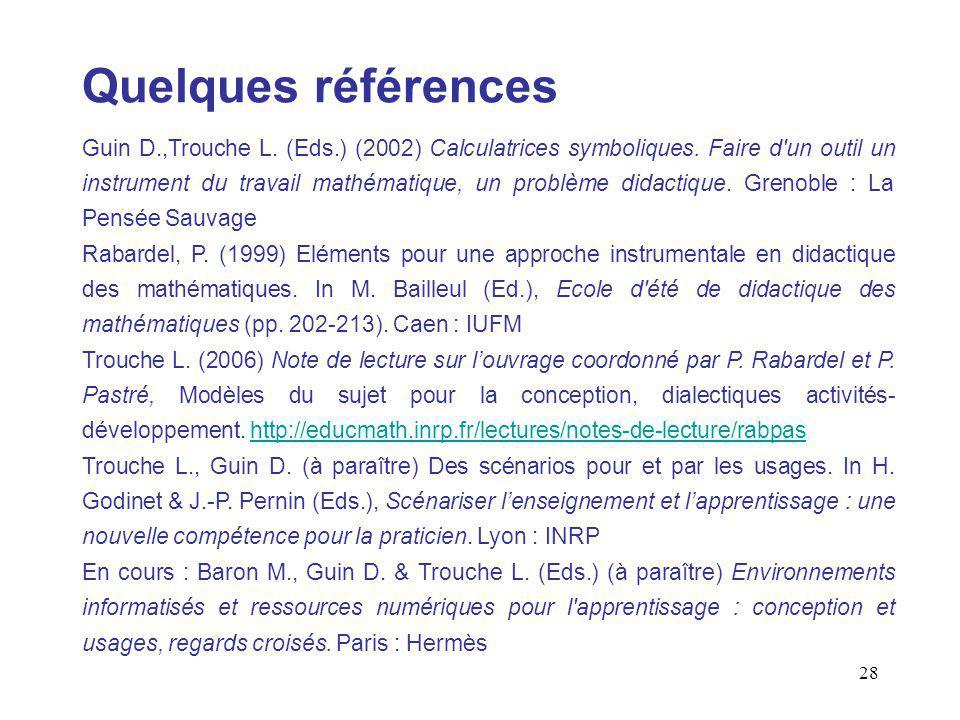 29 Conception de ressources pédagogiques pour lenseignement des mathématiques L.
