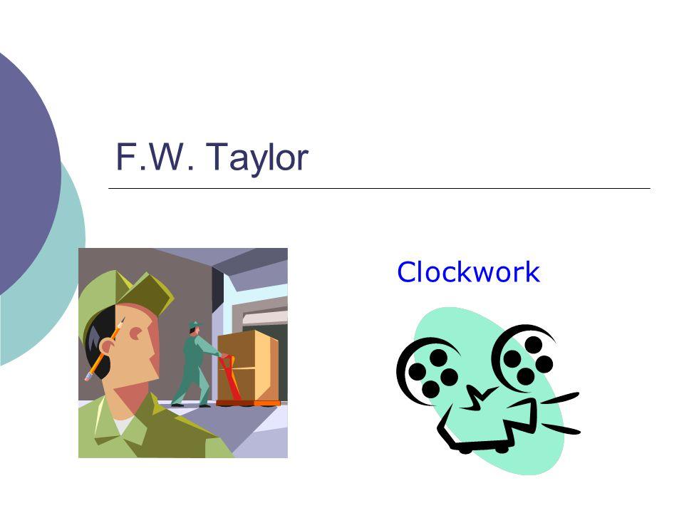 F.W. Taylor Clockwork