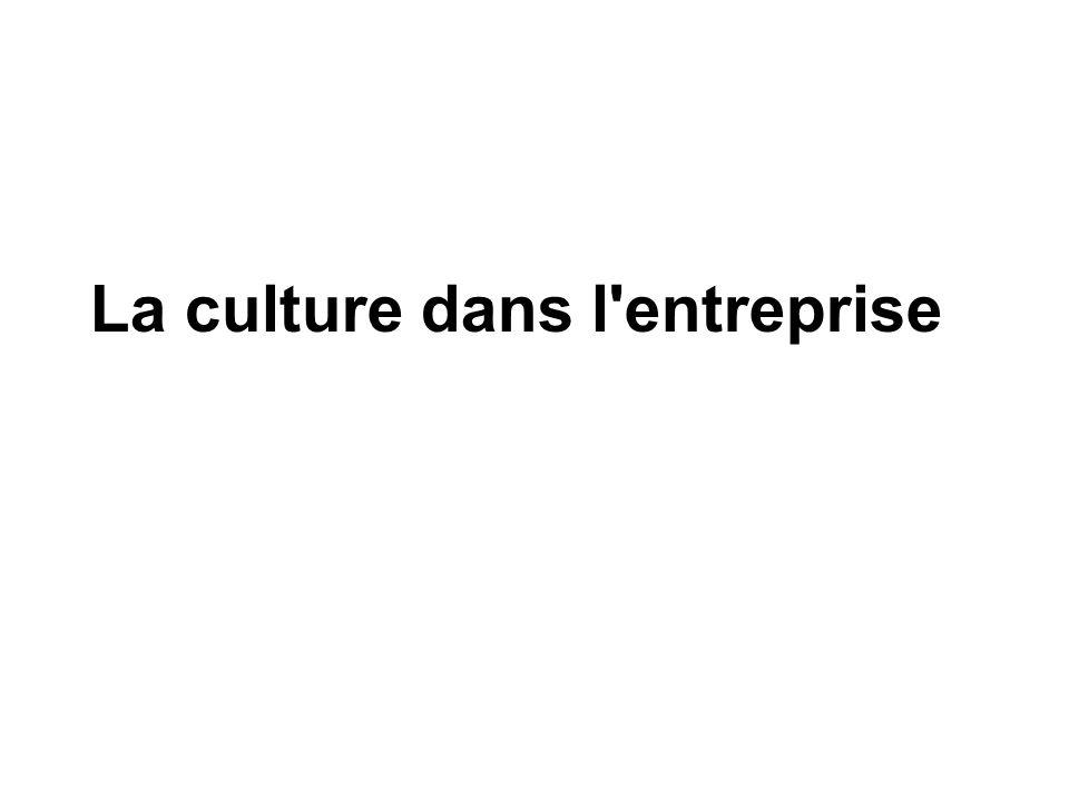 La culture dans l'entreprise