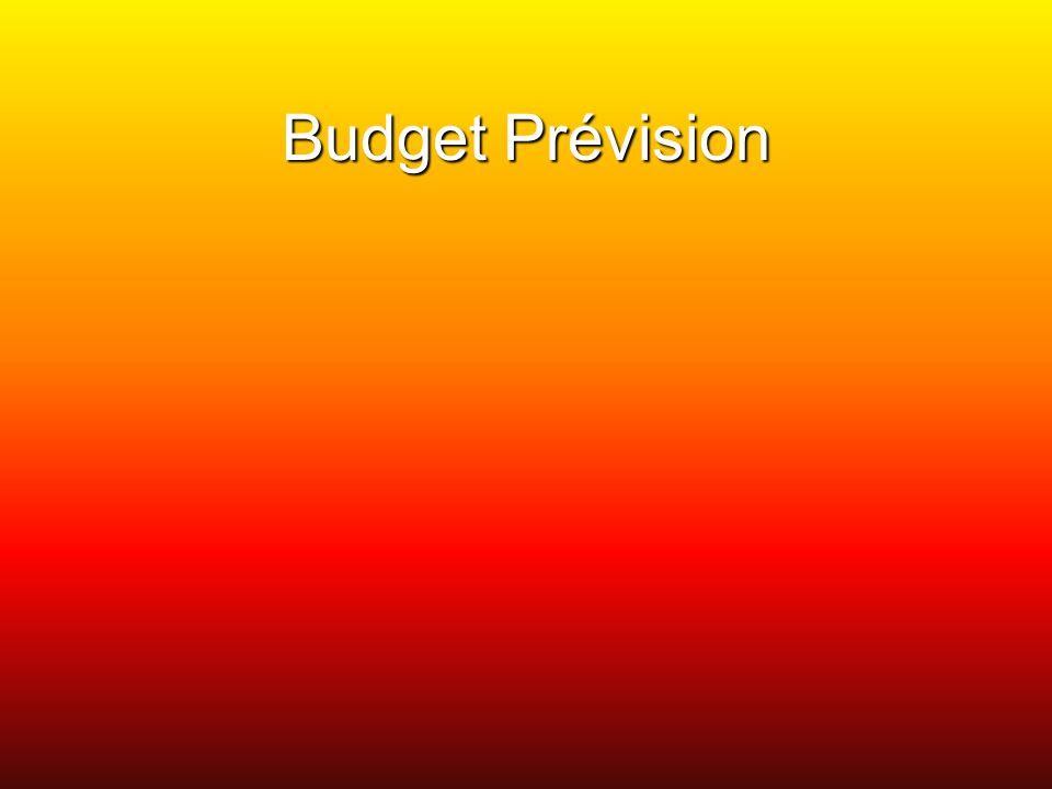 Budget Prévision