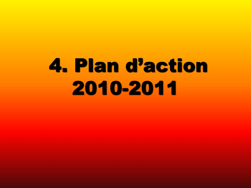 4. Plan daction 2010-2011 4. Plan daction 2010-2011