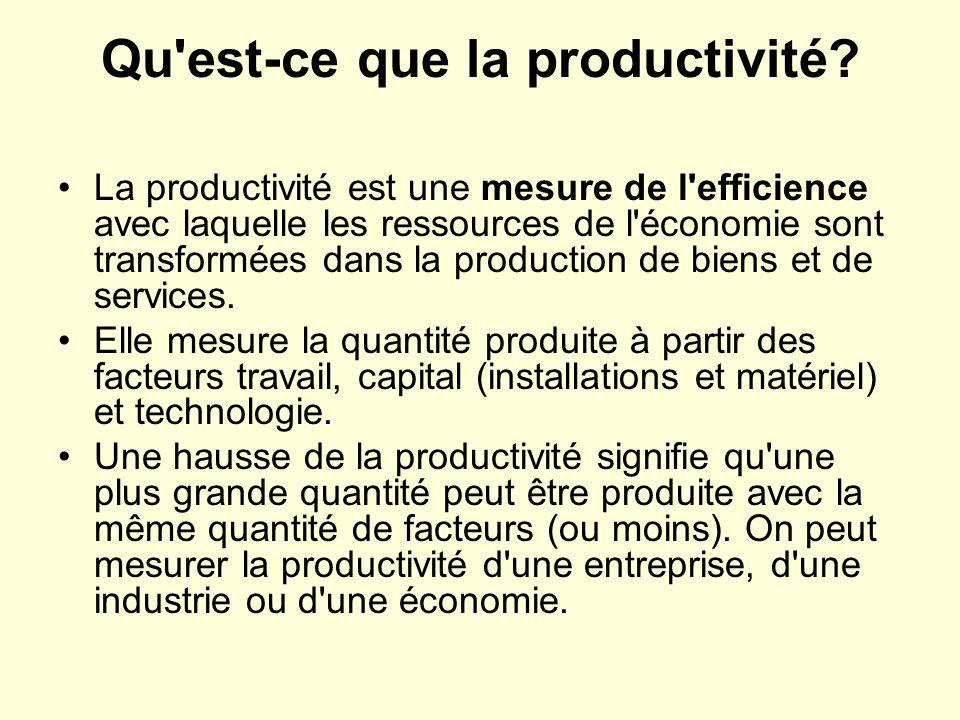 Qu est-ce que la productivité.
