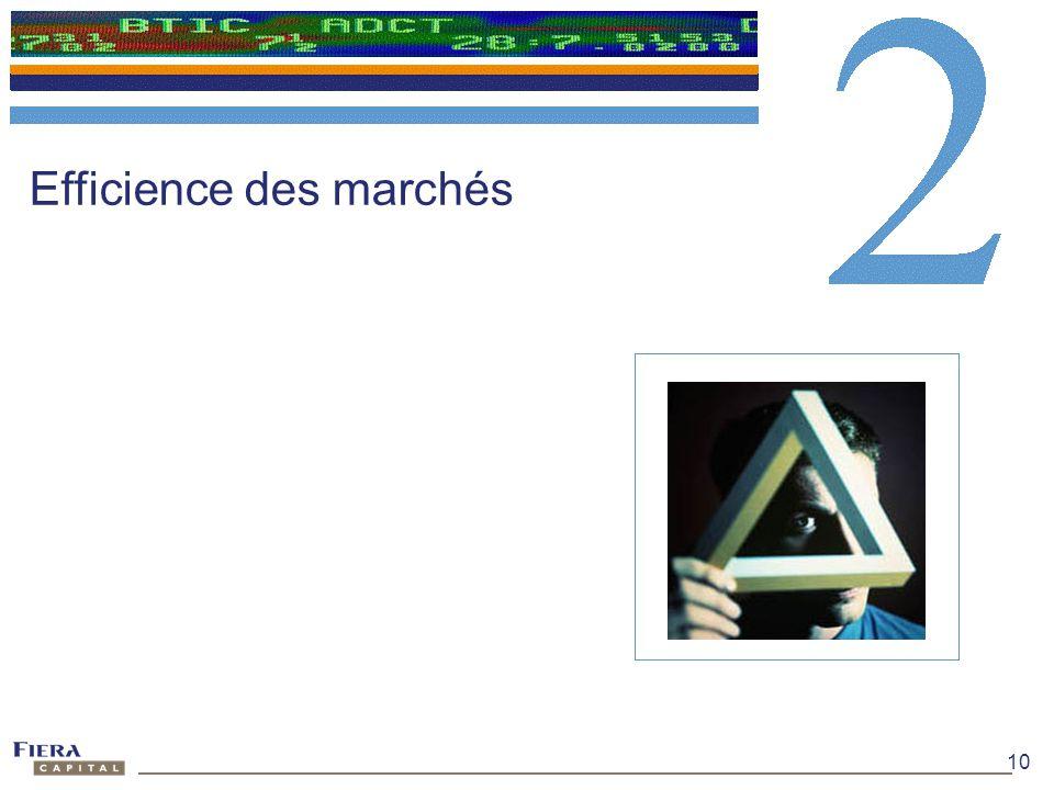 10 Efficience des marchés