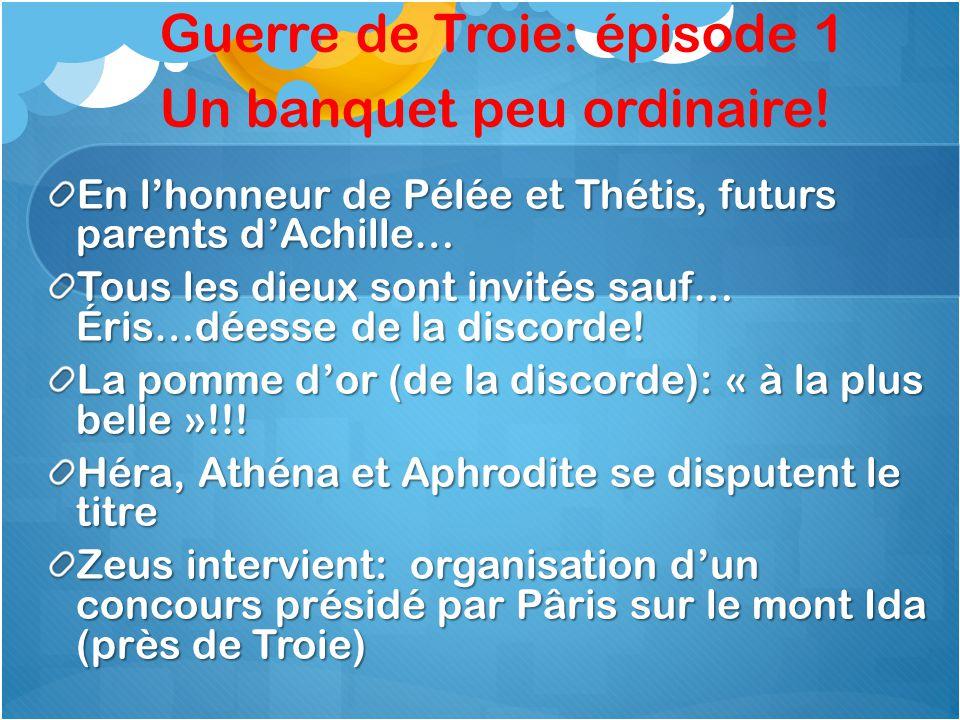 Guerre de Troie: épisode 1 Un banquet peu ordinaire.
