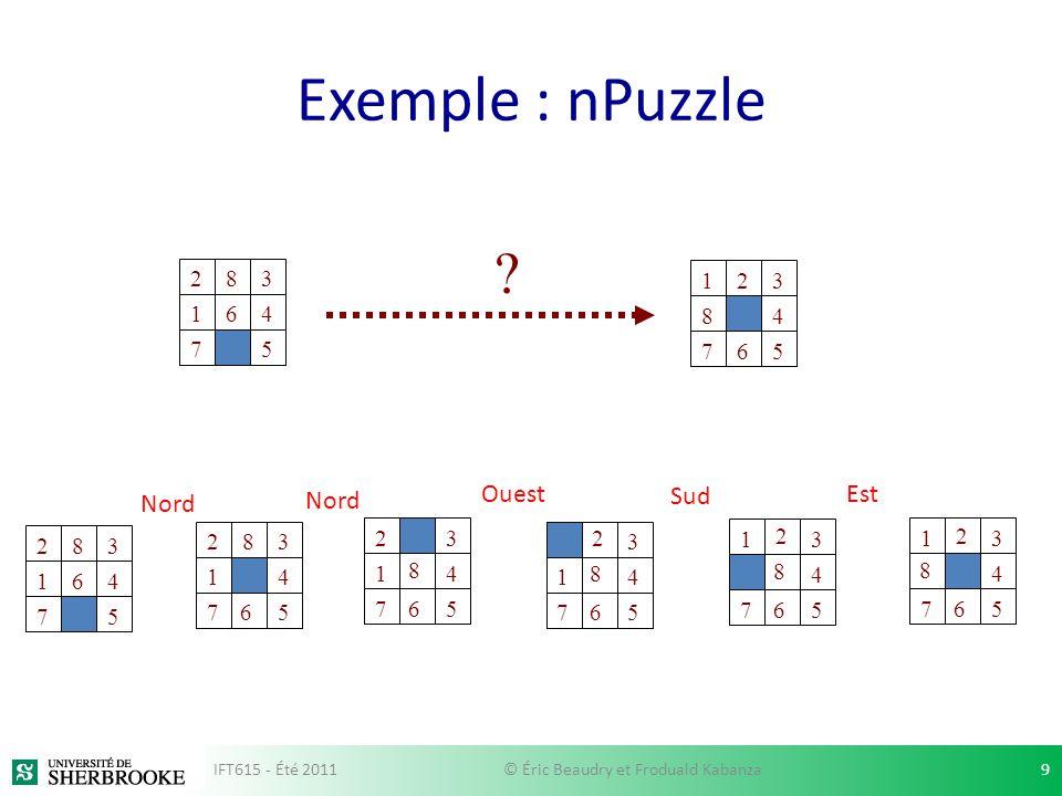 Approche combinatoire par décomposition en cellules Room 1 Room 2 Room 5 Room 4 Room 3 IFT615 - Été 201150© Éric Beaudry et Froduald Kabanza