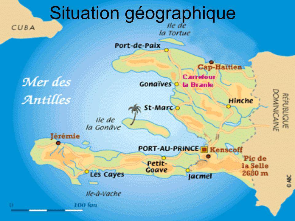 Organisation du matériel Carte du monde qui identifie lHaïti et le Canada.
