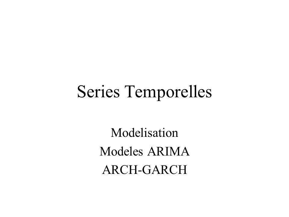 Modelisation Modeles ARIMA ARCH-GARCH Series Temporelles