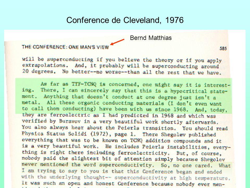 Conference de Cleveland, 1976 Bernd Matthias