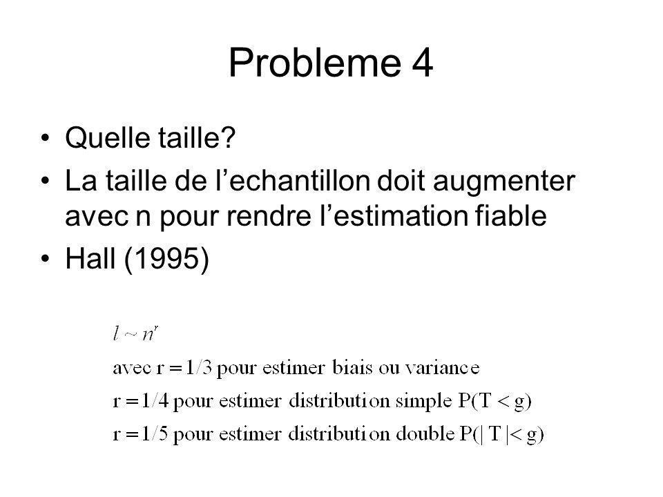 Probleme 4 Quelle taille.