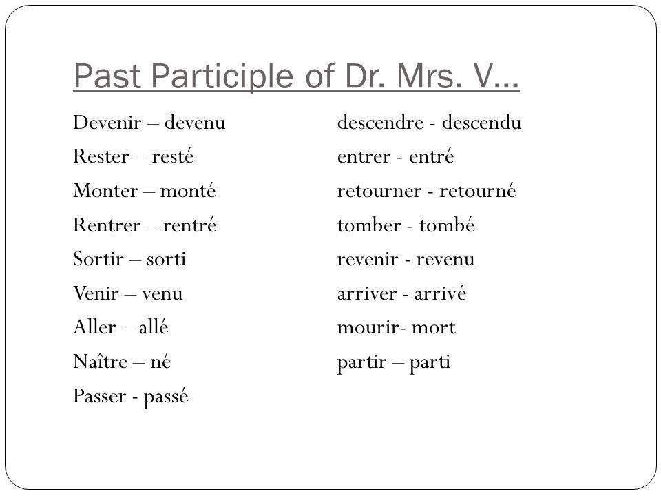 Past Participle of Dr.Mrs.