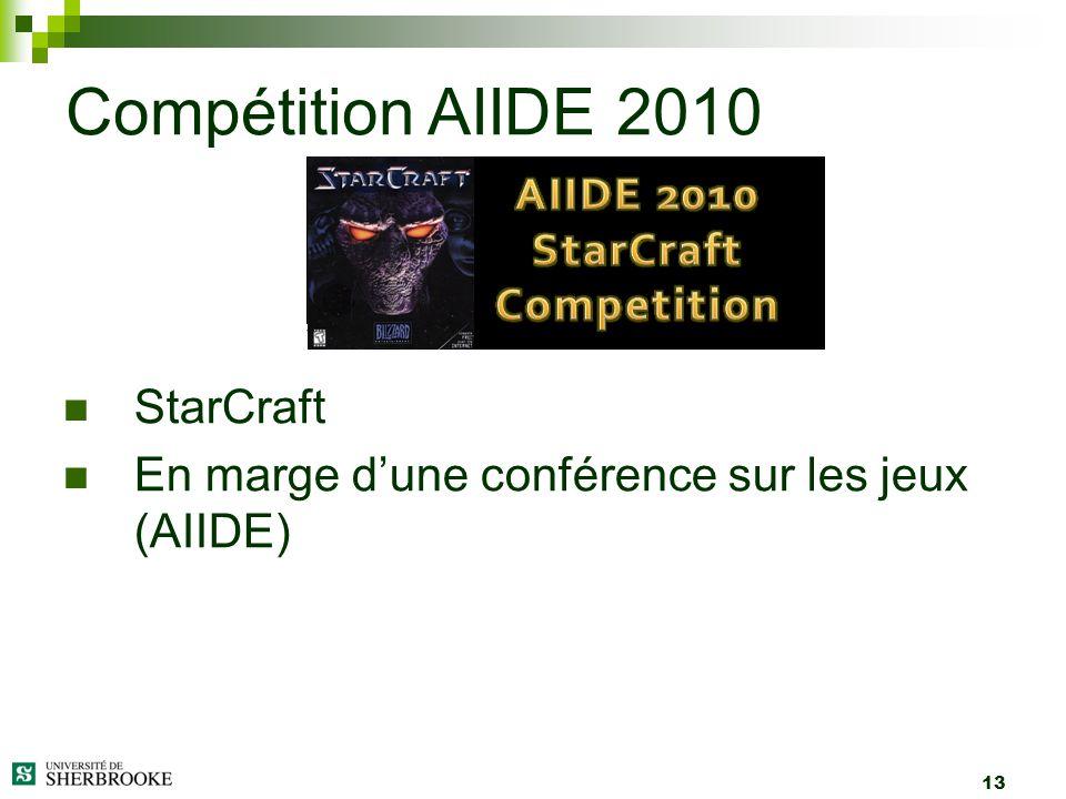 13 StarCraft En marge dune conférence sur les jeux (AIIDE) Compétition AIIDE 2010