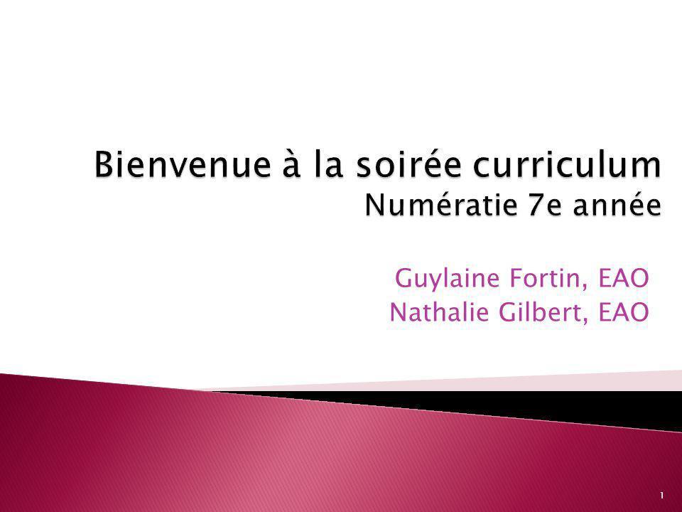 Guylaine Fortin, EAO Nathalie Gilbert, EAO 1