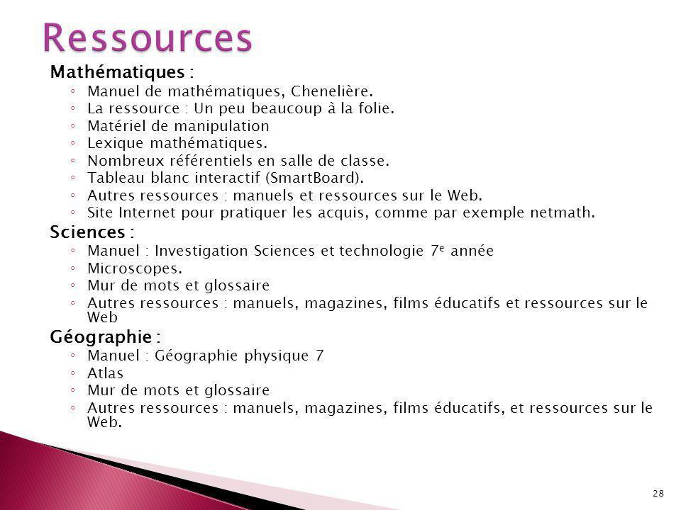 Mathématiques : Manuel de mathématiques, Chenelière.