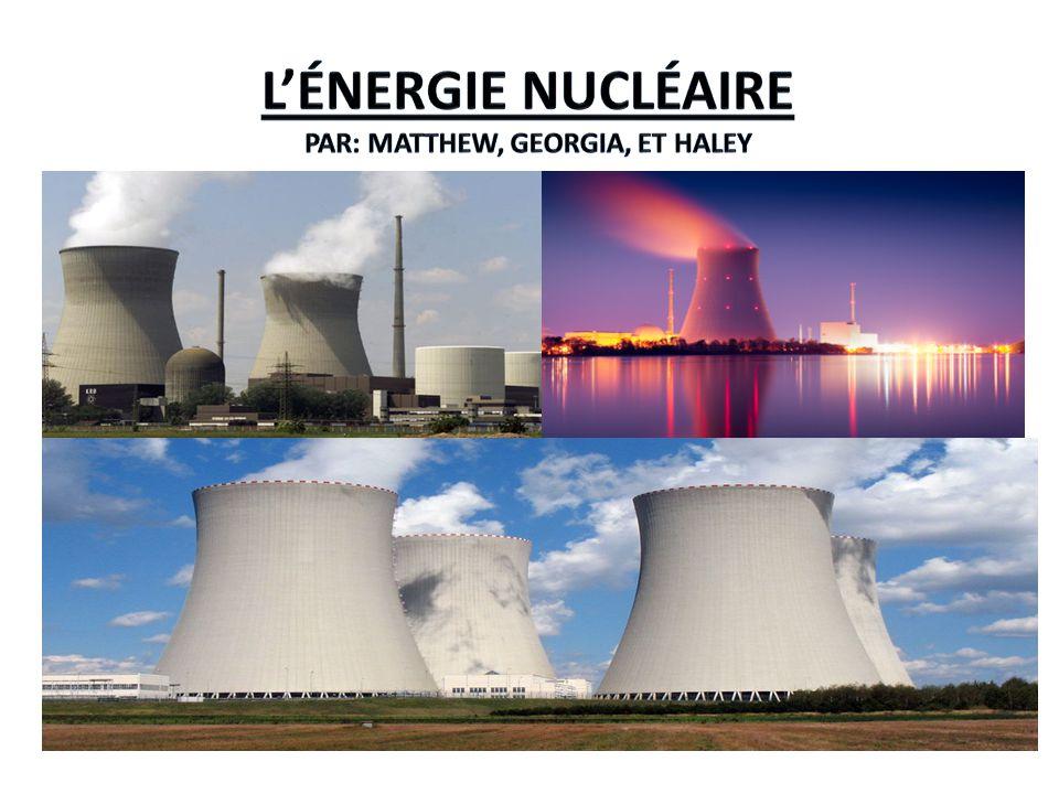 L énergie nucléaire est non-renouvelable.