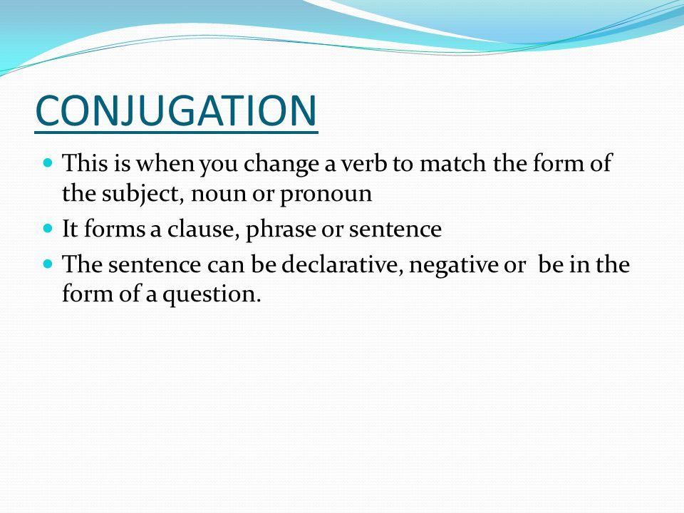TERMINOLOGIES Infinitive – the verb in its original form Ex.