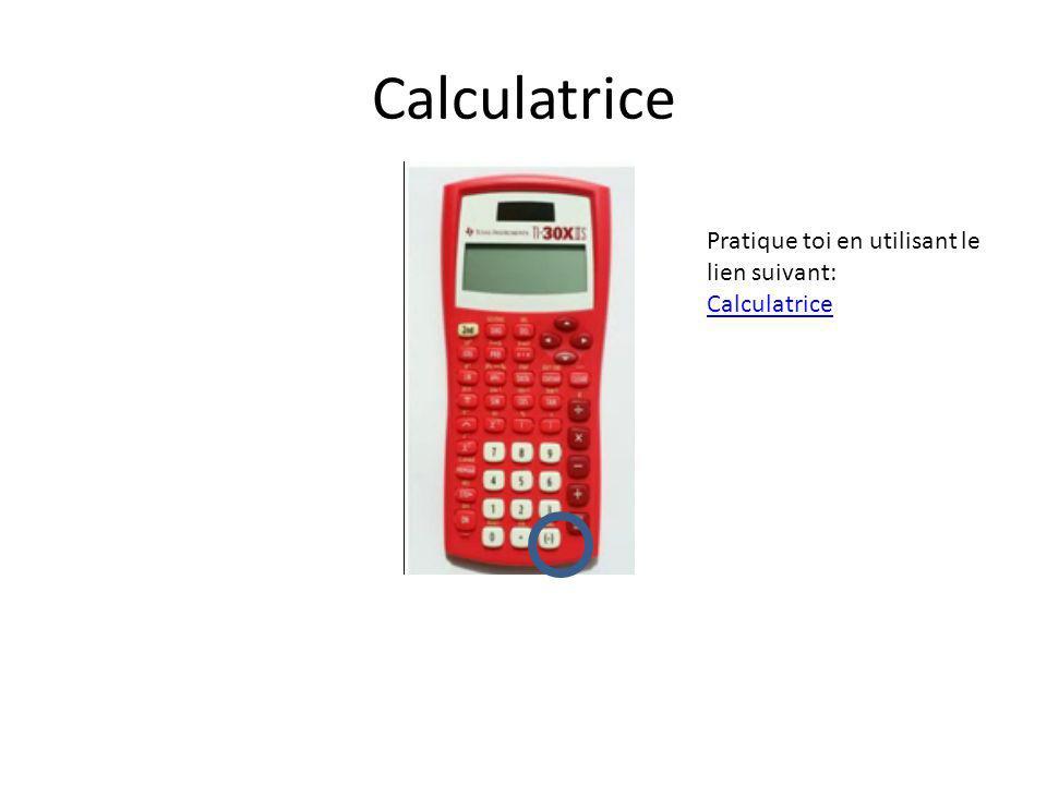 Calculatrice Pratique toi en utilisant le lien suivant: Calculatrice