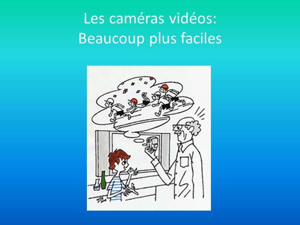 Les caméras vidéos: Beaucoup plus faciles