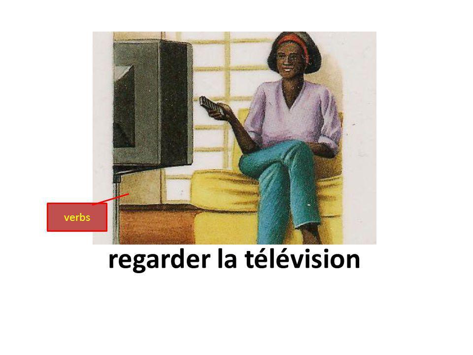 regarder la télévision verbs