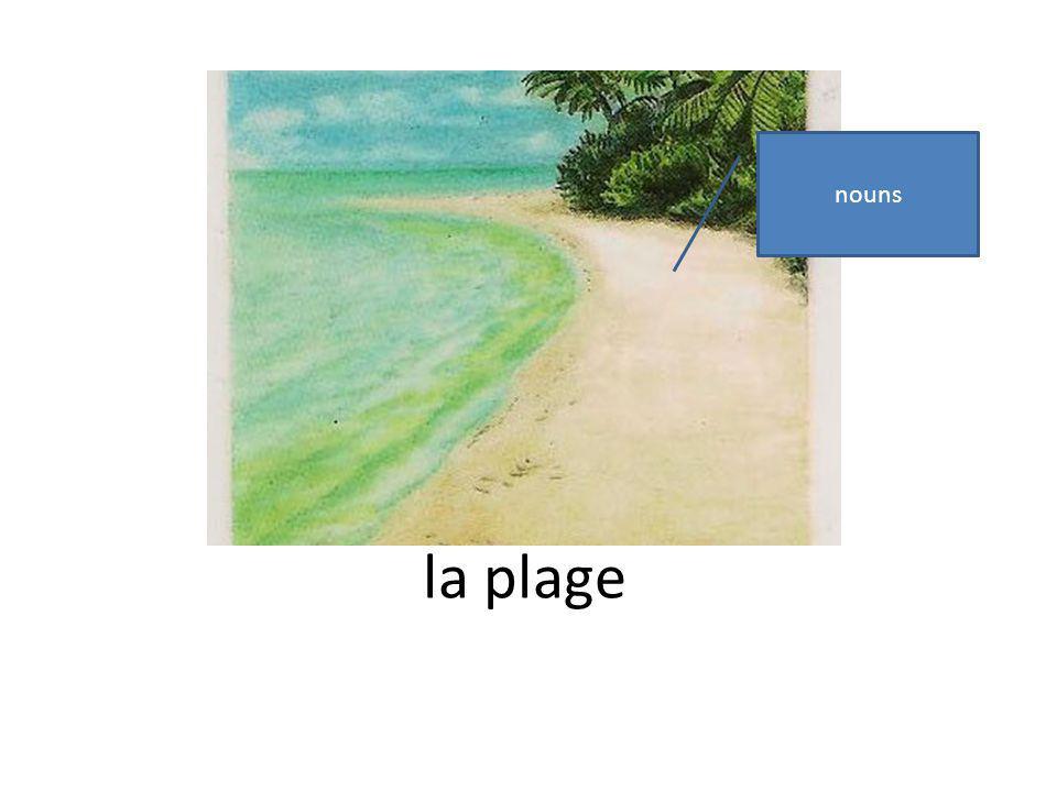 la plage nouns