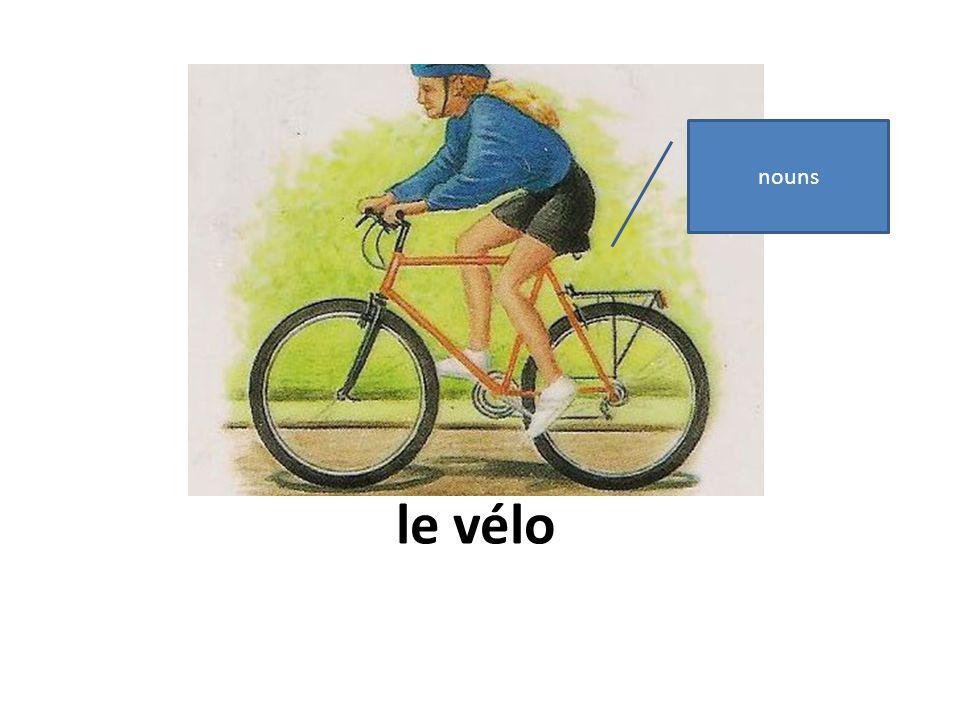 le vélo nouns