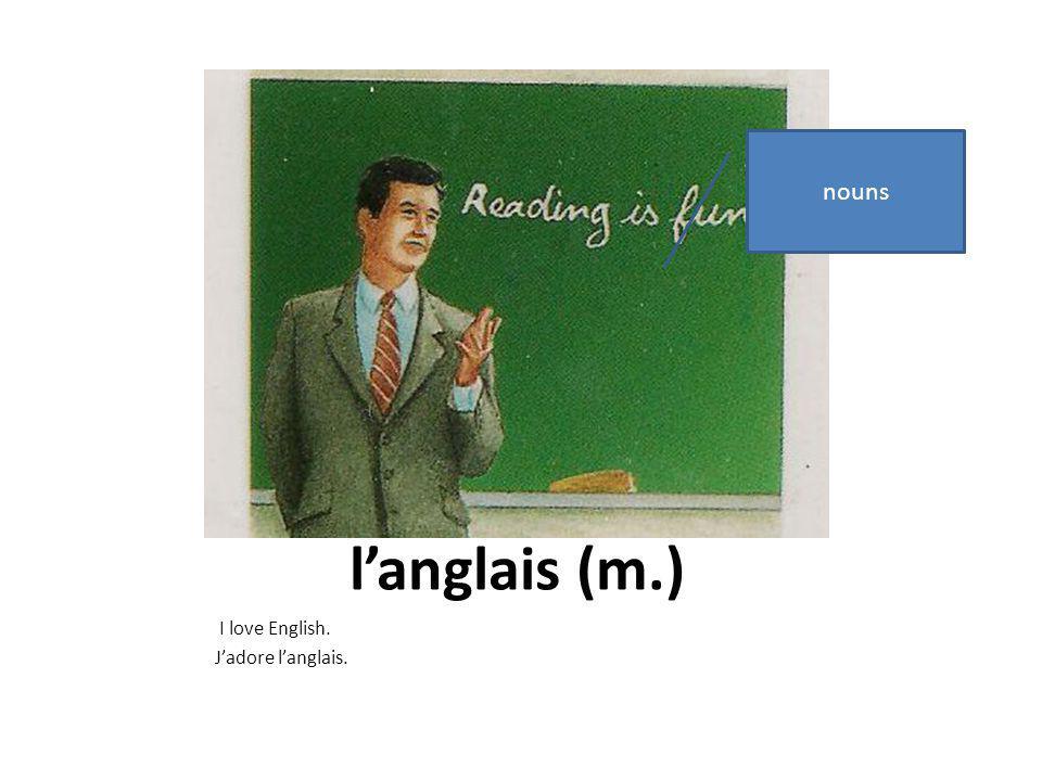 étudier Try: She studies English. verbs