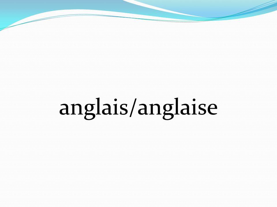 anglais/anglaise