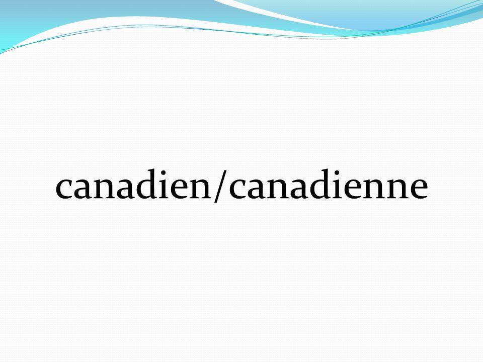 canadien/canadienne