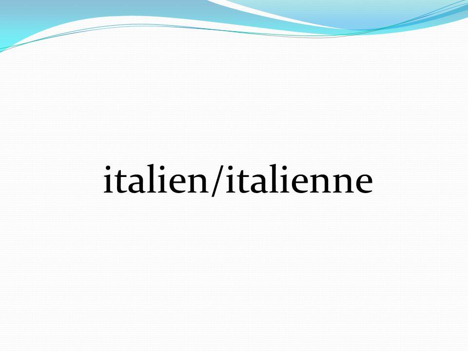 italien/italienne