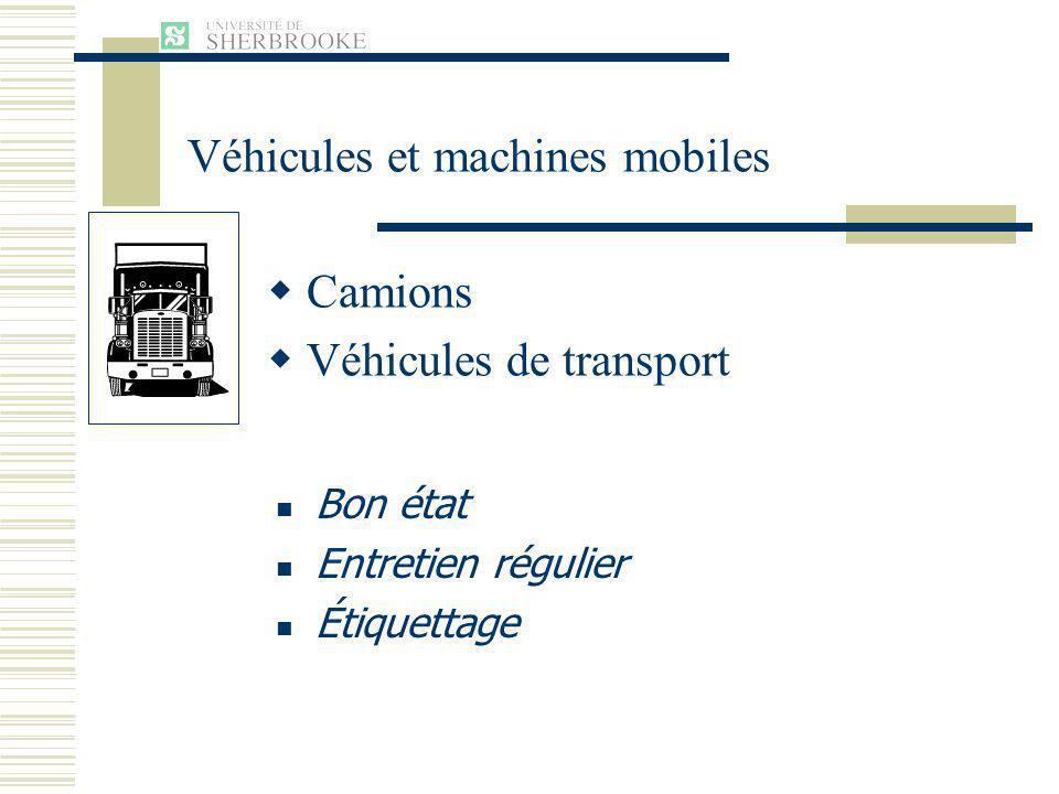 Camions Véhicules de transport Bon état Entretien régulier Étiquettage Véhicules et machines mobiles