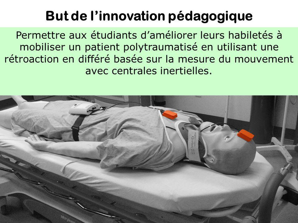 But de linnovation pédagogique Permettre aux étudiants daméliorer leurs habiletés à mobiliser un patient polytraumatisé en utilisant une rétroaction e