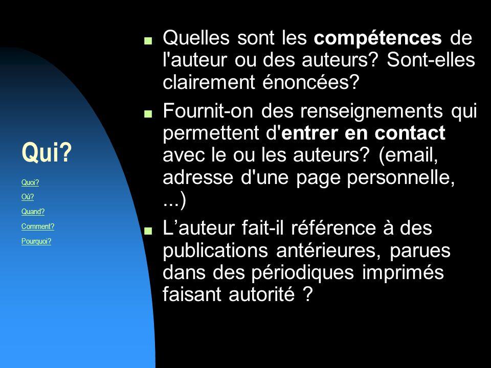 EN résumé et pour en savoir plus Consultez la grille dévaluation du manuel : http://ccfd.crosemont.qc.ca/cours/trousse/guide/accueil/analyse_e va.html Consultez le site à ladresse : http://users.skynet.be/ameurant/francinfo/validite/index.html