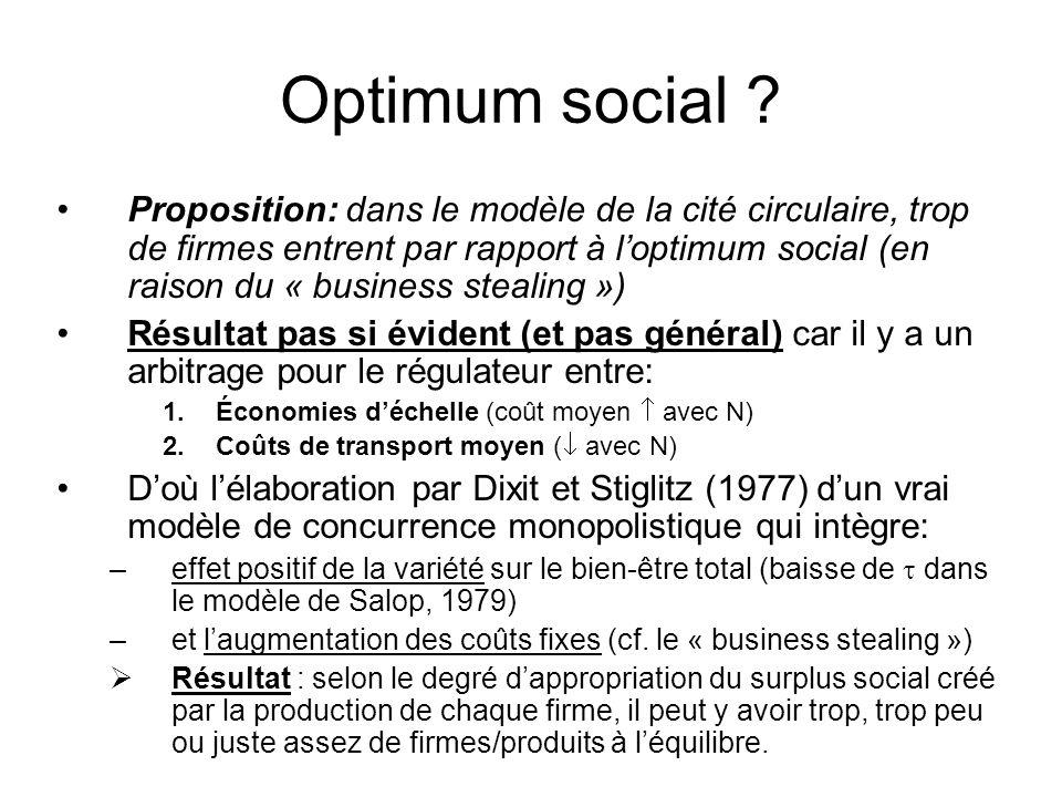 Optimum social .