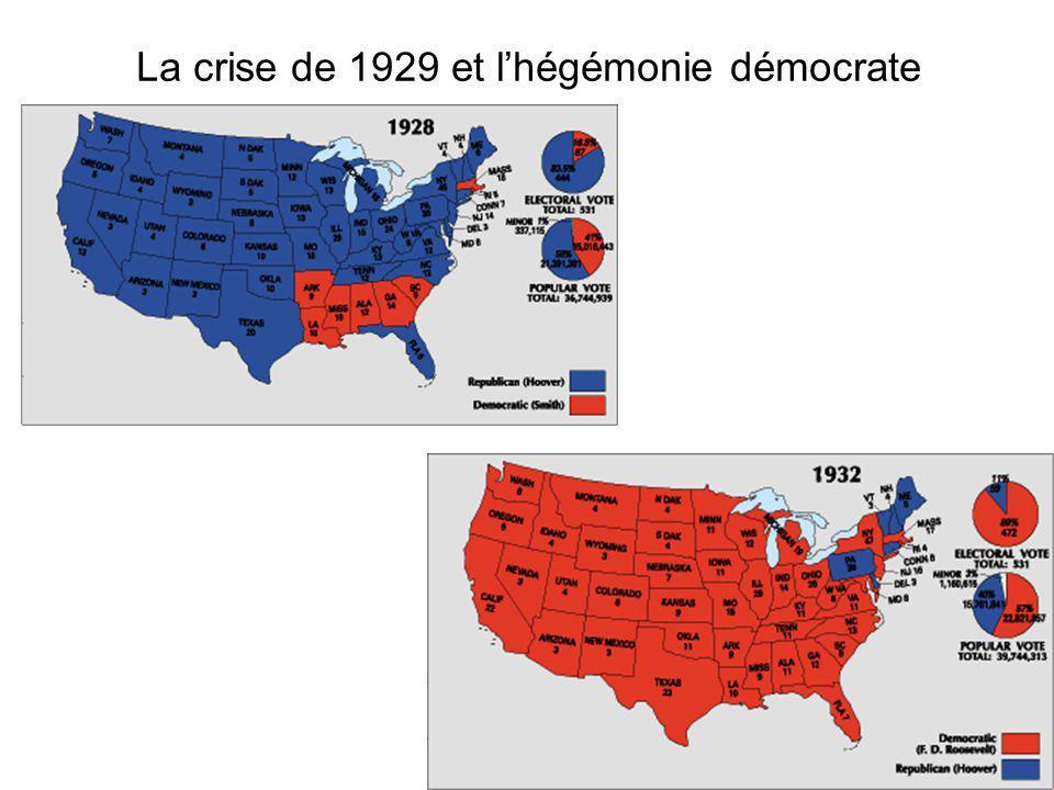 La crise de 1929 et lhégémonie démocrate
