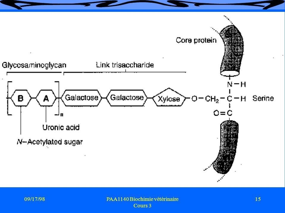 09/17/9815PAA1140 Biochimie vétérinaire Cours 3