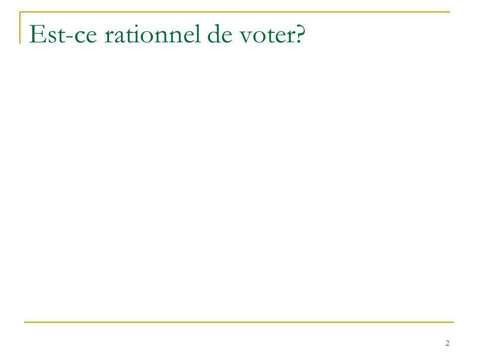 Le paradoxe du vote (A. Downs, 1951) 3