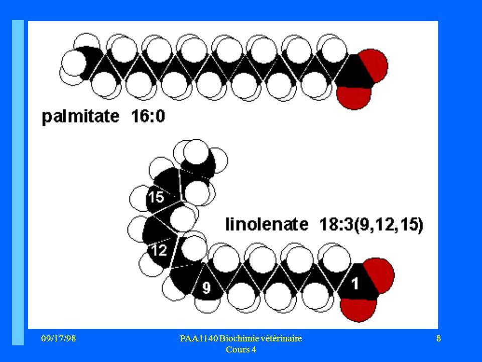 09/17/9819PAA1140 Biochimie vétérinaire Cours 4