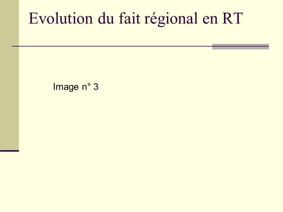 Evolution du fait régional en RT Image n° 3