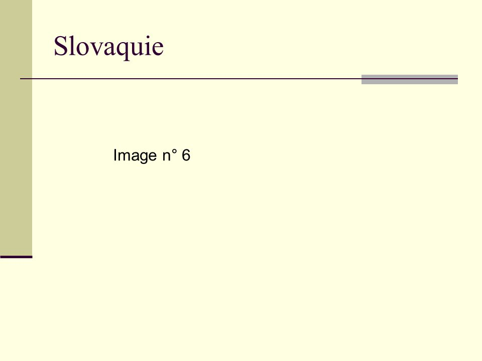 Slovaquie Image n° 6