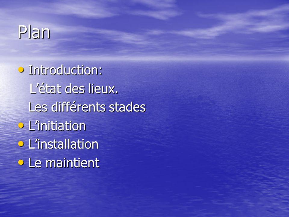 Plan Introduction: Introduction: Létat des lieux.Létat des lieux.