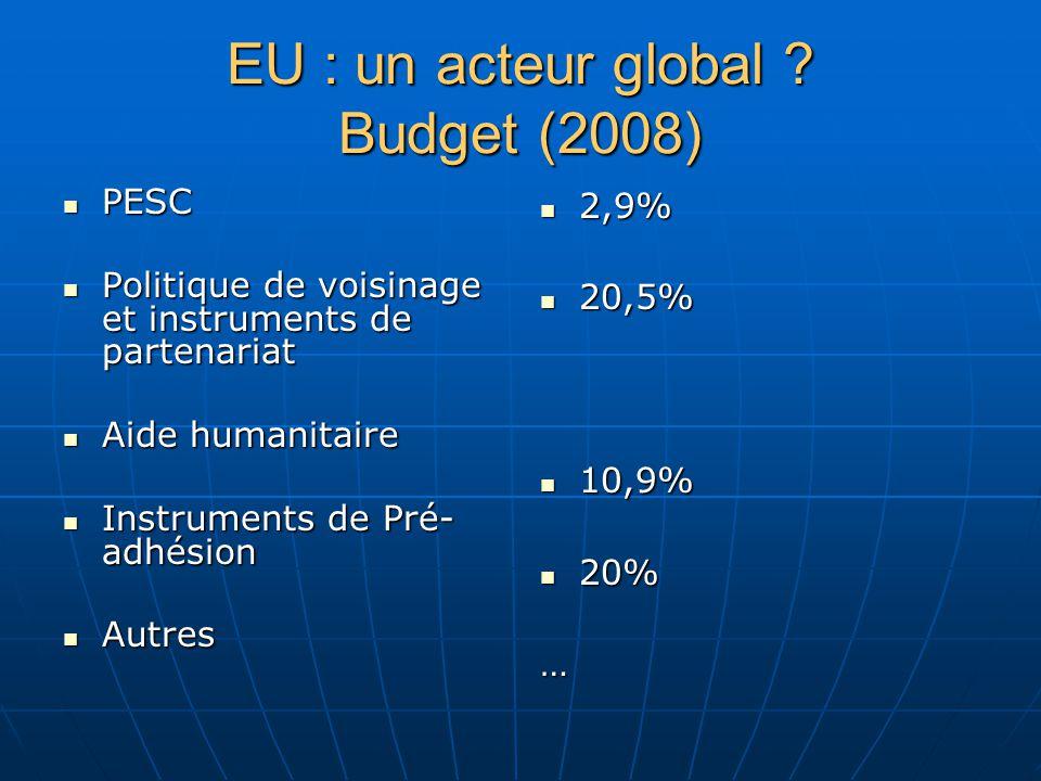 EU : un acteur global .