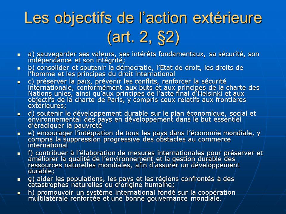 Les objectifs de laction extérieure (art.