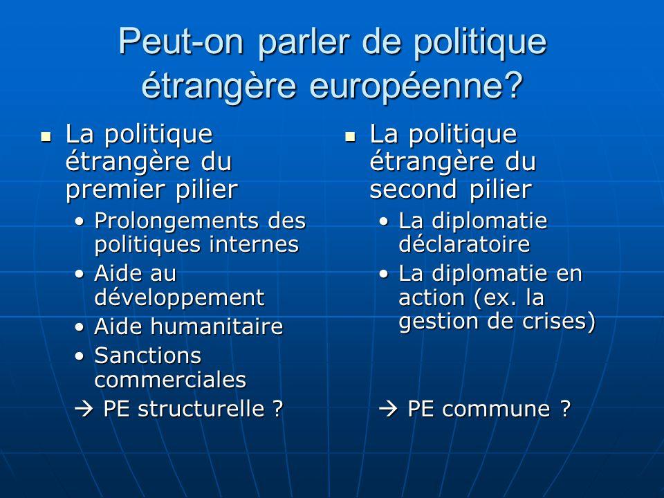 Peut-on parler de politique étrangère européenne.