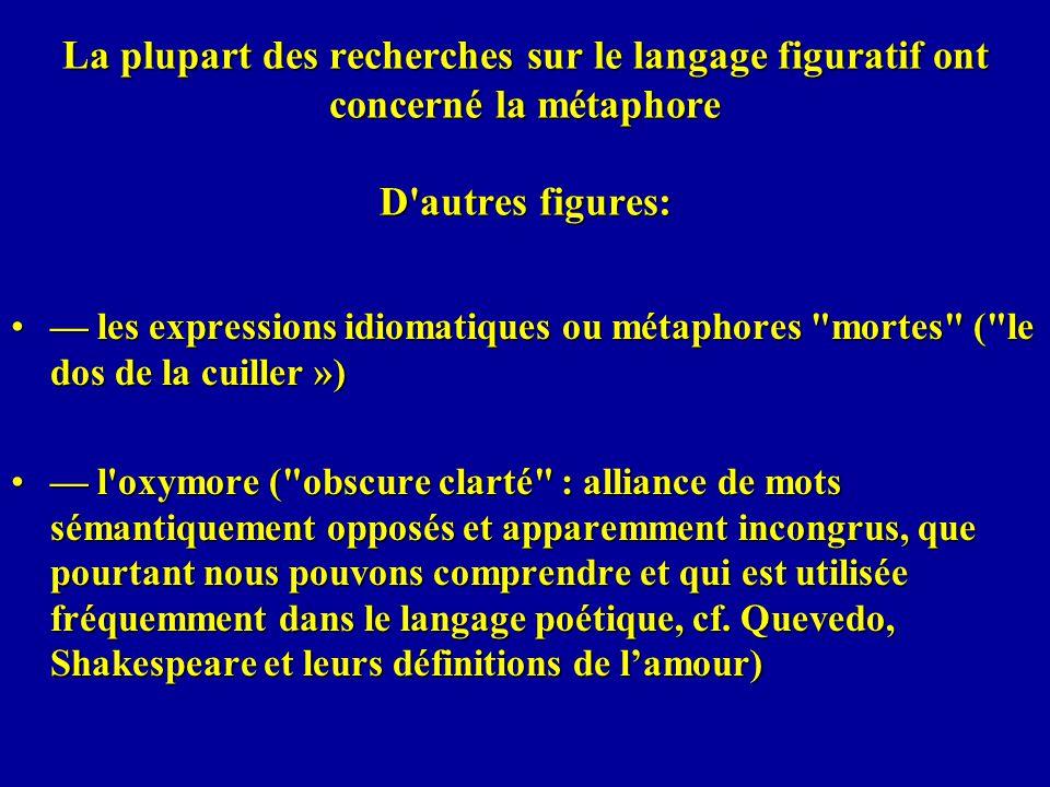 les expressions idiomatiques ou métaphores