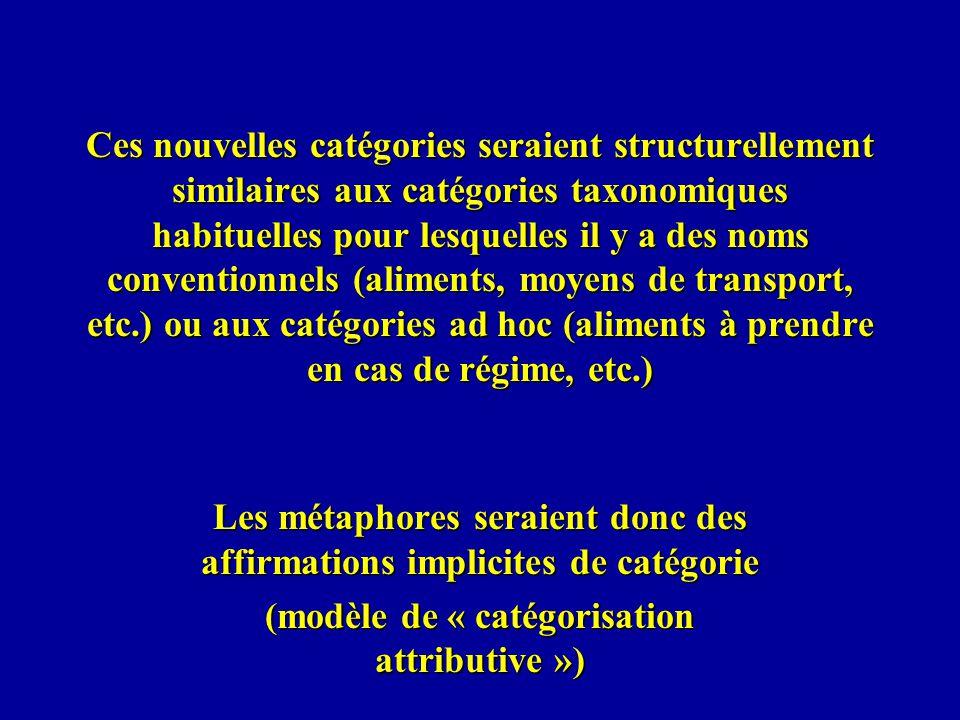 Ces nouvelles catégories seraient structurellement similaires aux catégories taxonomiques habituelles pour lesquelles il y a des noms conventionnels (