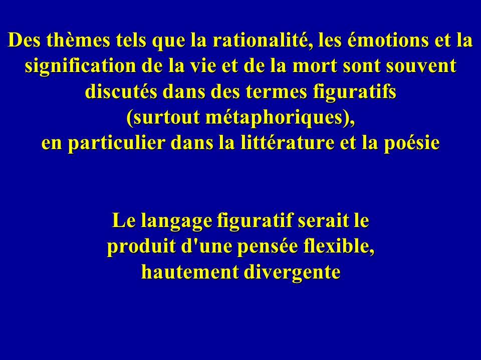 Des thèmes tels que la rationalité, les émotions et la signification de la vie et de la mort sont souvent discutés dans des termes figuratifs (surtout