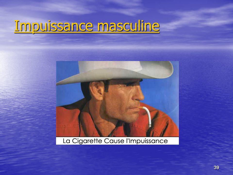 39 Impuissance masculine