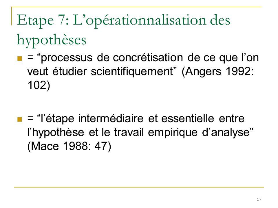 18 Etape 8: Lobservation – La collecte de données 6.1.