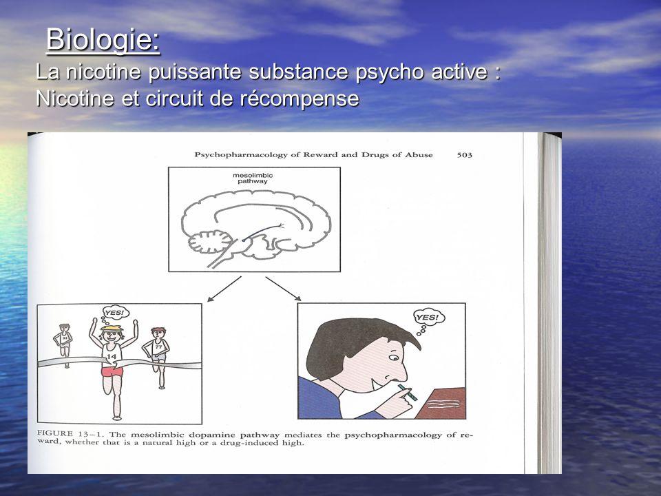 Biologie: La nicotine puissante substance psycho active : Nicotine et circuit de récompense Biologie: La nicotine puissante substance psycho active :